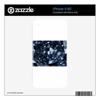 Deep Blue Diamond Effect Decals For The iPhone 4S