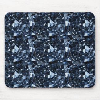 Deep Blue Diamond Effect Mouse Pad