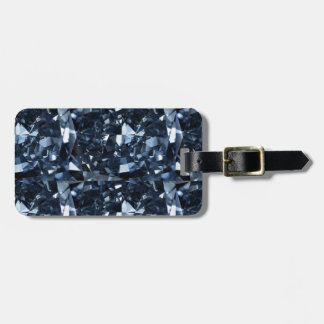 Deep Blue Diamond Effect Tag For Bags