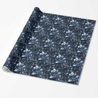 Deep Blue Diamond Effect Wrapping Paper