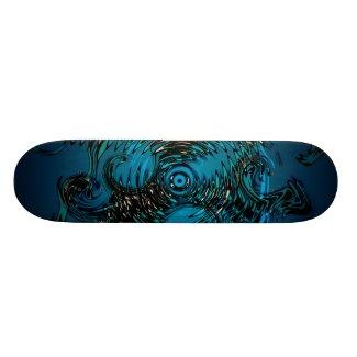 Deep Blue Dragon Twirls SKate Deck