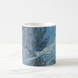 Deep Blue Dreams Vintage Mermaid Mug