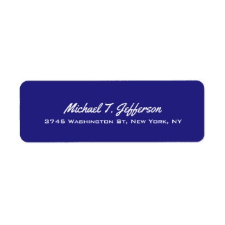 Deep Blue Elegant Professional Modern Personal Label