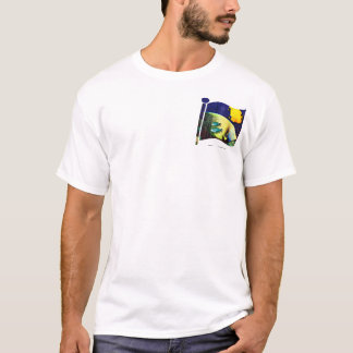 Deep Blue Flag Pocket T-Shirt