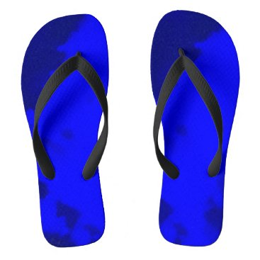 Beach Themed deep blue flip flops by DAL