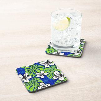 Deep blue Garden's edge Drink Coaster