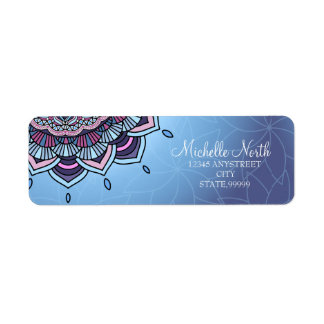 Deep Blue Glow Mandala ID361 Label