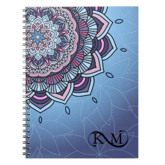 Deep Blue Glow Mandala ID361 Notebook