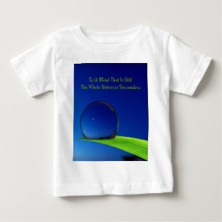 Deep Blue Harmonious Moon With Dewdrop Baby T-Shirt