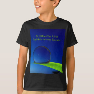 Deep Blue Harmonious Moon With Dewdrop T-Shirt
