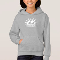 Deep Blue hoodie with White School Logo