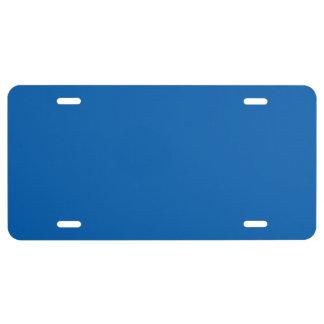 """Deep Blue"" License Plate"