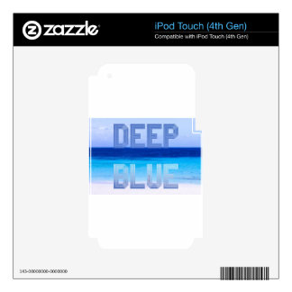 Deep Blue logo backdrop iPod Touch 4G Decal