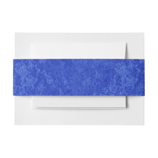 Deep Blue Marble Look Invitation Belly Band