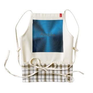 Deep blue,metallic,pattern,trendy,modern,techstyle zazzle HEART apron