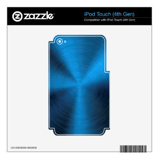 Deep blue,metallic,trendy,fun,happy,hipster,modern decal for iPod touch 4G