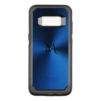Deep Blue Monogram Metallic Otterbox Edge S8 Case
