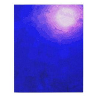 Deep Blue Moon Minimal Abstract Faux Canvas Print