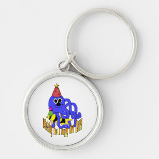 Deep Blue New Year Keychain