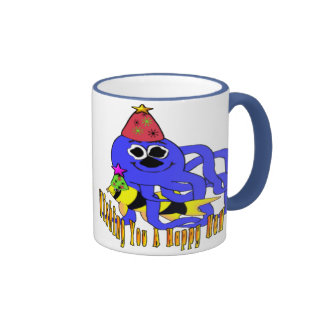 Deep Blue New Year Ringer Mug