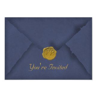 Deep Blue Party Invitation