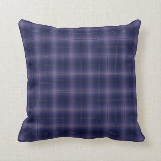 Deep Blue Plaid Pillow