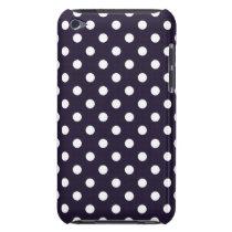 Deep Blue Polka Dot iPod Touch G4 Case