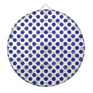 Deep Blue Polka Dots Dart Board