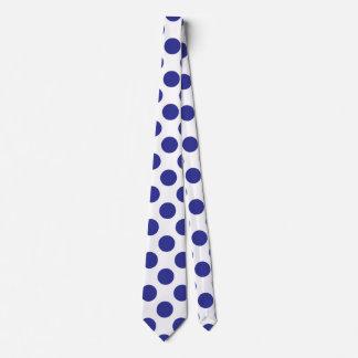Deep Blue Polka Dots Tie