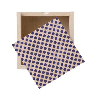 Deep Blue Polka Dots Wooden Keepsake Box