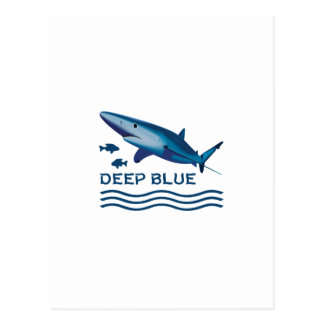DEEP BLUE POSTCARD