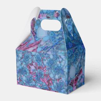 Deep Blue Purple Abstract Flowers Favor Box