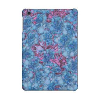 Deep Blue Purple Abstract Flowers iPad Mini Retina Cover
