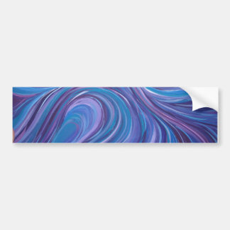 Deep blue/ Purple Wave Bumper Stickers