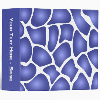 Deep Blue Random Mosaic Pattern Binder