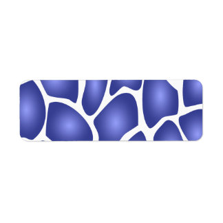 Deep Blue Random Mosaic Pattern Return Address Label