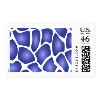 Deep Blue Random Mosaic Pattern Stamp