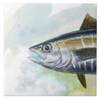 Deep Blue Sea Art Tuna Tile