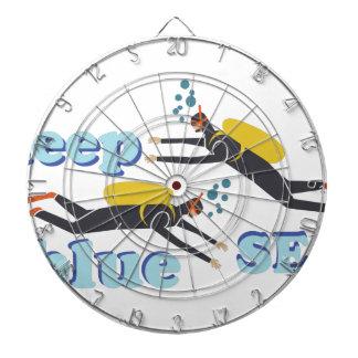 Deep Blue Sea Dartboard With Darts