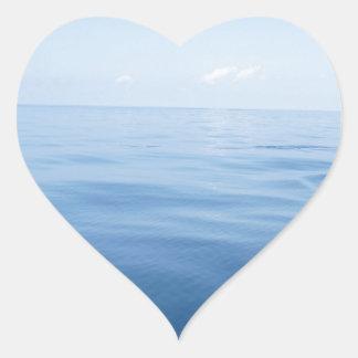 deep blue sea heart sticker