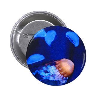 Deep Blue Sea Jellyfish 2 Inch Round Button
