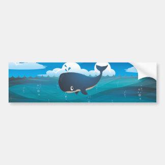 Deep Blue Sea Whale Bumper Sticker