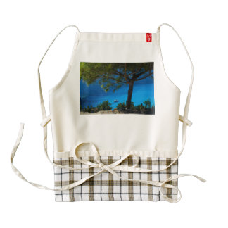 Deep blue sea zazzle HEART apron