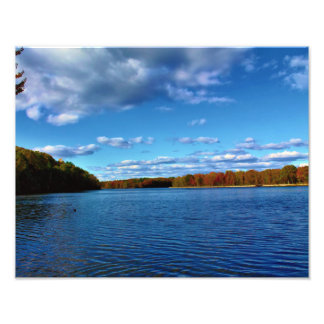 Deep Blue Skies and River Photo Print