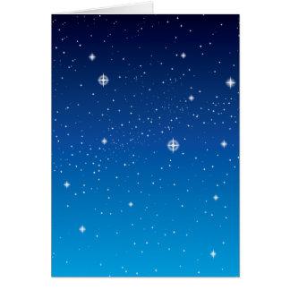 Deep Blue Starry Night Sky Card