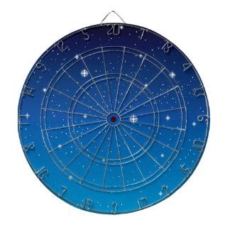 Deep Blue Starry Night Sky Dartboard