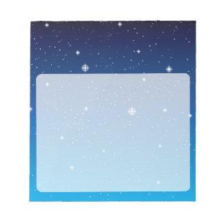 Deep Blue Starry Night Sky Notepad