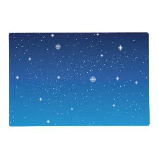 Deep Blue Starry Night Sky Placemat