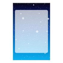 Deep Blue Starry Night Sky Stationery