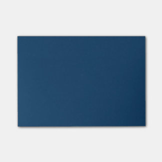 Deep Blue Steel Color Trend Background Post-it Notes